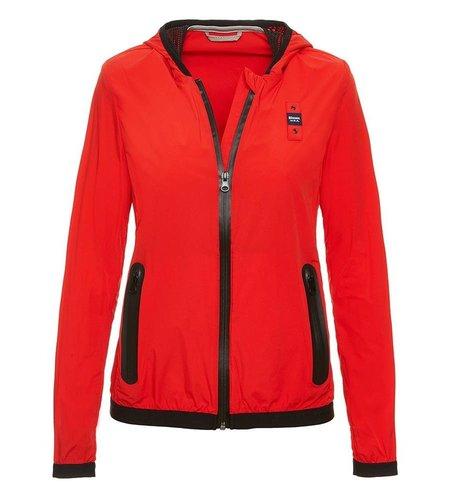 Blauer Eva Matte Jacket With Hood Bright Red
