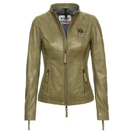 Blauer Hannah Urban Biker Leather Jacket