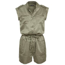 Blauer Short Silk And Cotton Jumpsuit