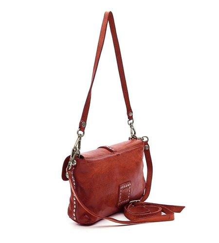 Campomaggi Pochette in red leather