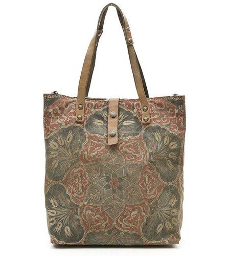 Campomaggi Shopping bag in green fabric