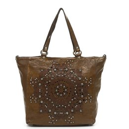 Campomaggi Shopping bag in green leather