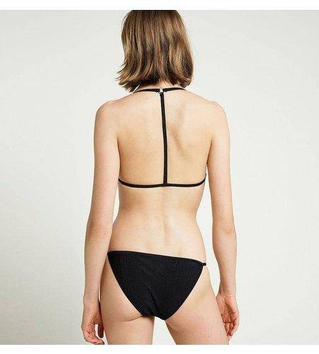 Zoe Karssen Hearts Triangle Bikini Brief Jet Black