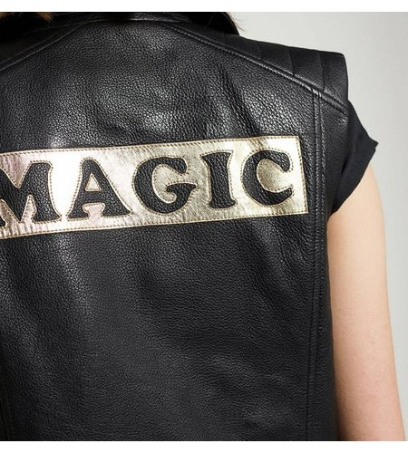 Zoe Karssen Magic Leather Jacket Moonless Night