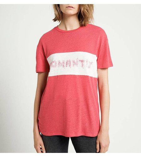 Zoe Karssen Romantix T-Shirt Tomato Optical White