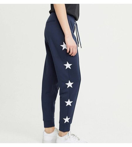 Zoe Karssen Star Applique Sweatpants Mood Indigo