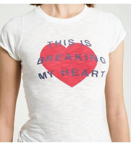 Zoe Karssen This Is Breaking My Heart T-Shirt Optical White