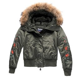Blauer Bomber With Hood Olivia