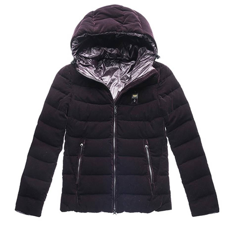 quality design 0868b 23ab0 Blauer Down Jacket With Hood In Velvet Blackberry bestellen?
