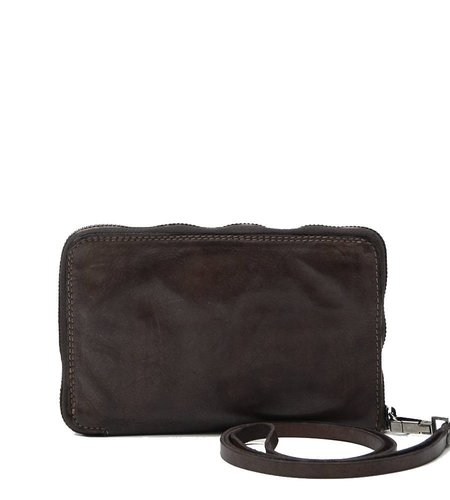 Campomaggi Big Wallet with wrist string grey