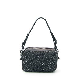 Campomaggi Mini Bowler Bag with black rhinestones in