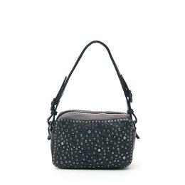 Campomaggi Mini Bowler Bag with black rhinestones in