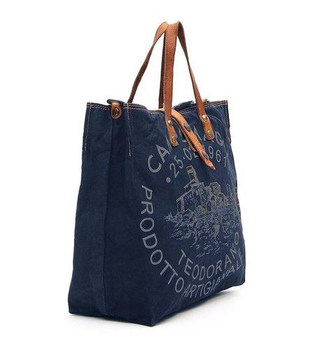 Campomaggi Shopper Tess Blue Natural