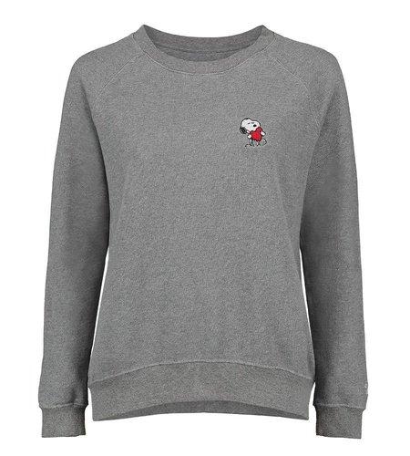 Vintage 55 Sweatshirt Snoopy Heart Grey Melange