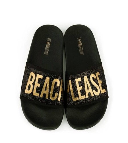 TheWhiteBrand Glitter Beach Please Black