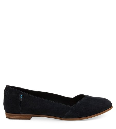 TOMS Julie Suede Black