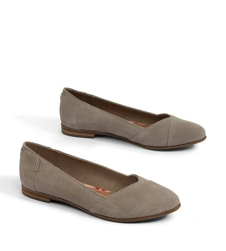 TOMS Julie Suede Taupe