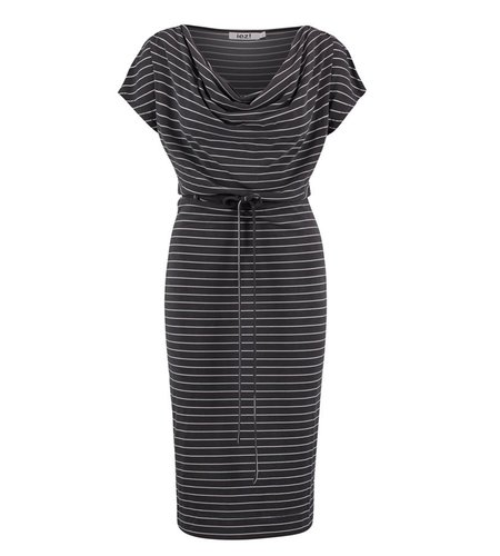 IEZ! Dress Drappy Modal Dark Grey