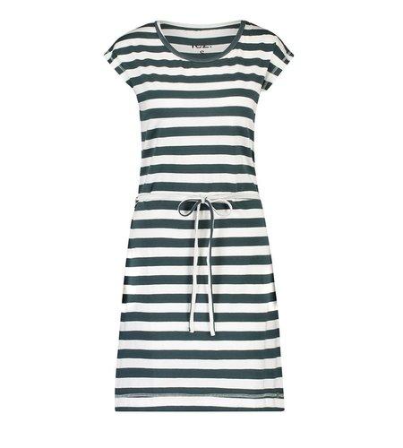 IEZ! Dress Jersey Stripe Dark Green White