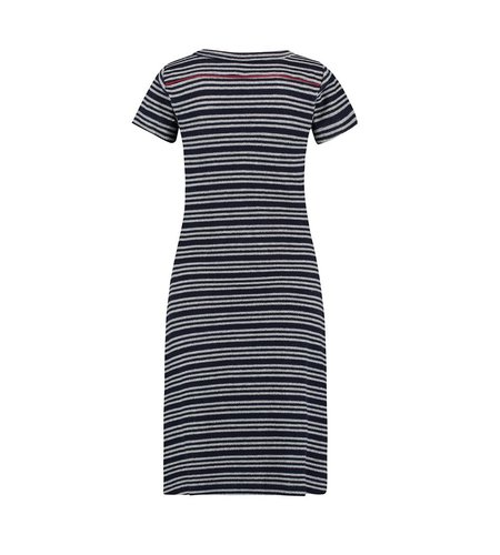 IEZ! Dress Terry Stripe Dark Blue Light Grey