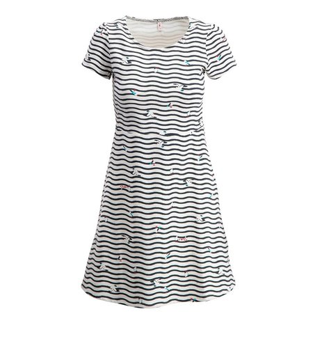 Blutsgeschwister Squeeze Me Tease Me Dress Seagull Stripe