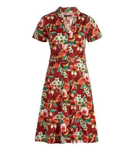 King Louie Emmy Dress Magnolia Sienna Red