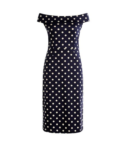 King Louie Iris Dress Partypolka Ink Blue