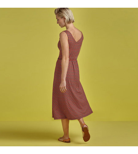 King Louie Anna Dress Vongole Beet Red