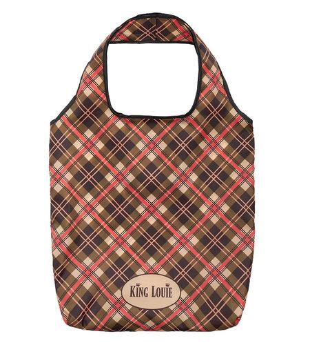 King Louie Check Eco Bag Marzipan