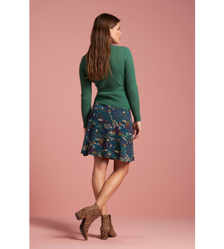 King Louie Border Skirt Manzai Autumn Blue