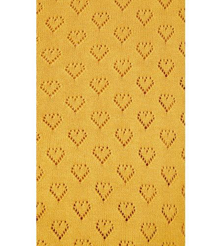 King Louie Cardi V Heart Ajour Honey Yellow