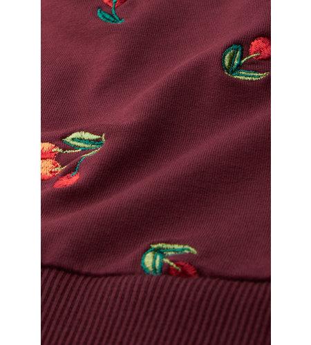 King Louie Cherry Sweater Fancy Sweat Windsor Red