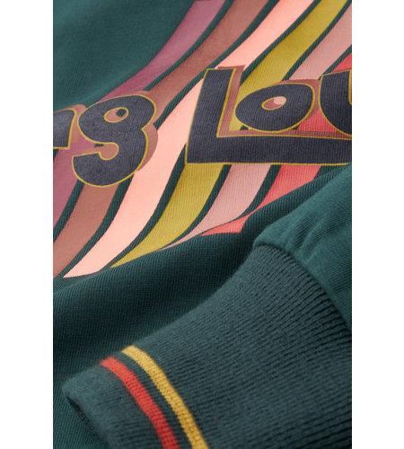 King Louie Logo Sweater Fancy Sweat Pine Green
