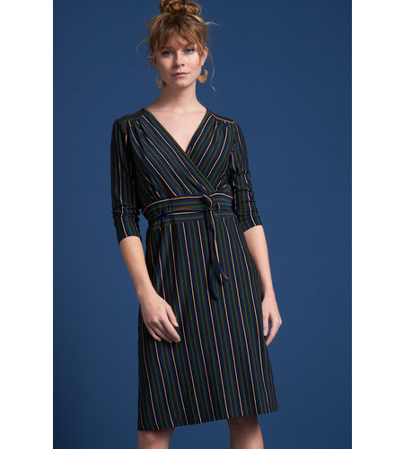 King Louie Cecil Dress Elmore Stripe Black