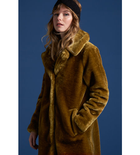 King Louie Alba Coat Zoot Amber Green