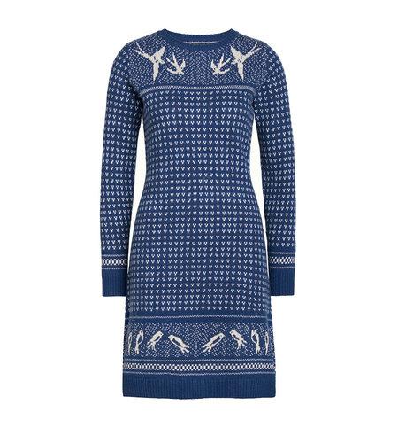 King Louie Knit Dress Songbird Autumn Blue