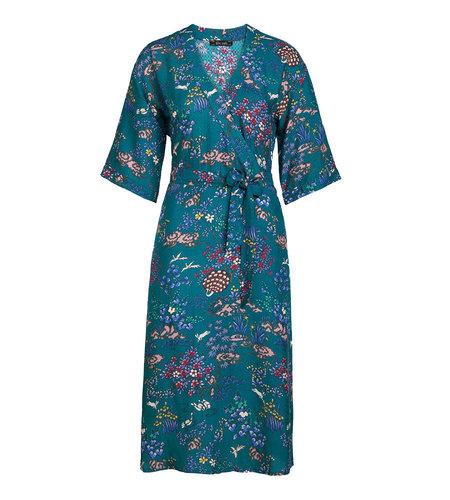 King Louie Joy Kimono Dress Jardin Dragonfly Green
