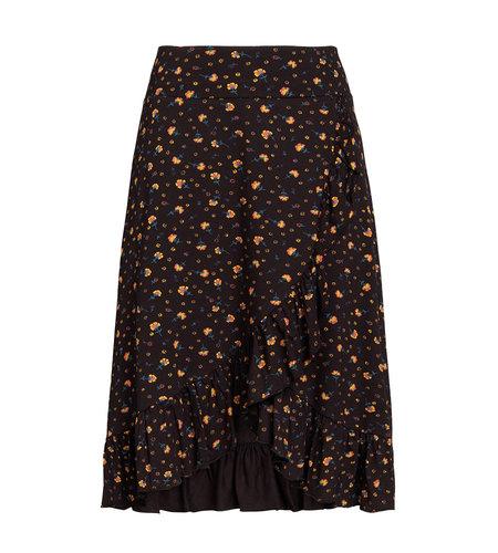 King Louie Ruffle Skirt Honky Tonk Black