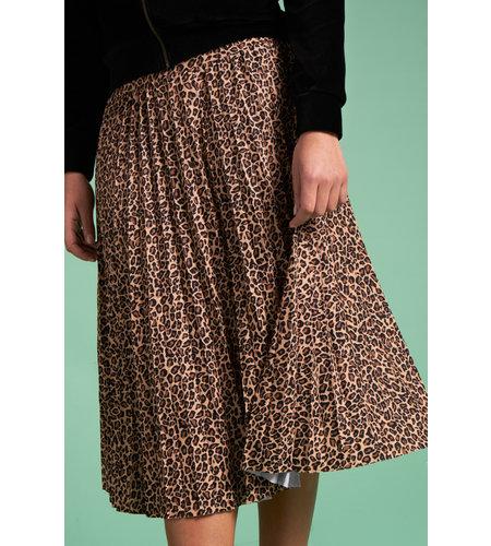 King Louie Border Plisse Skirt Plisoley Black