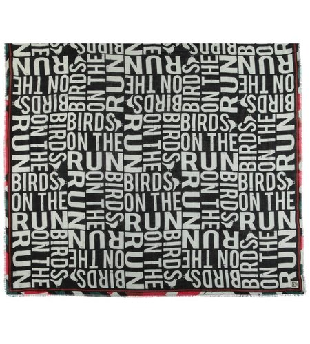 Birds On The Run Woven Printed Cotton Scarf