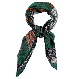 Birds On The Run Woven Ptd. Poly Satin Recycle Scarf