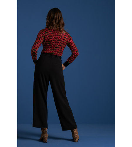 King Louie Rollneck Top Fiddle Beet Red