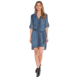 Bella Dahl Two Pocket Belted Shirt Dress Evening