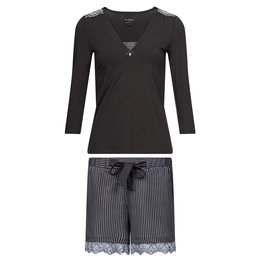Vive Maria French Look Pyjama short darkgrey allover