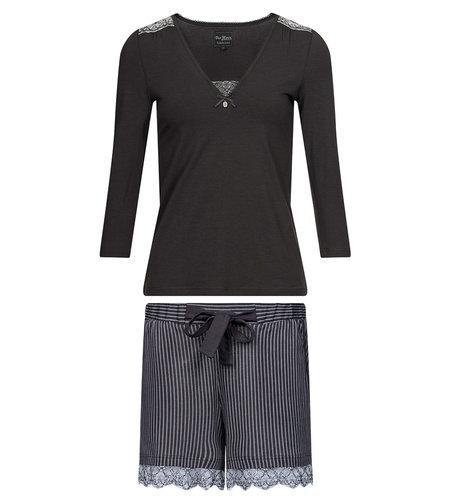 Vive Maria  French Look Pyjama short darkgrey allover
