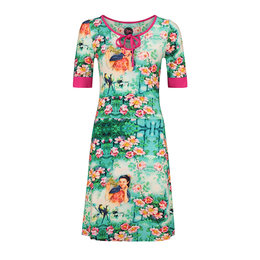 Tante Betsy Dress Keyhole Chinese Floral