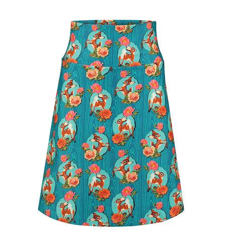 Tante Betsy Skirt Kitschy Deer Blue