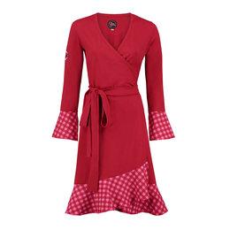 Tante Betsy Dress Ruffle Wrap Chekkies