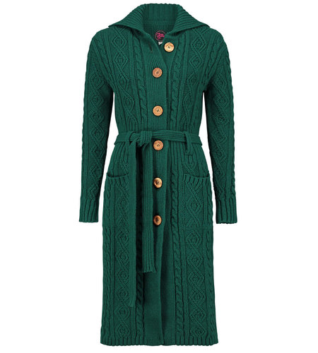 Tante Betsy Cardigan Cable Green