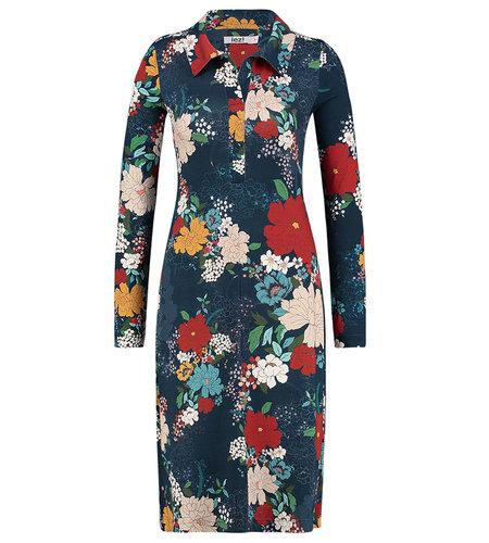 IEZ! Dress Polo Jersey Print Dark Blue